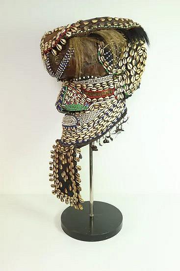 African Kuba Mboma helmet mask - Congo