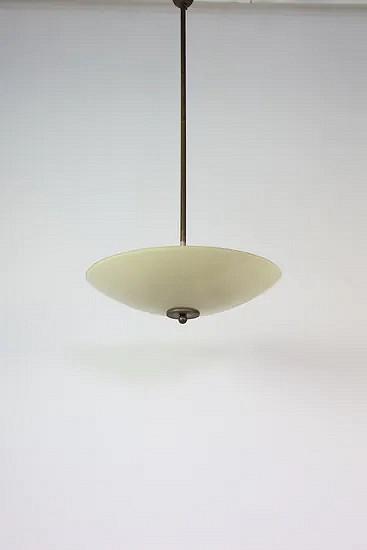 Antique glass pendant lamp