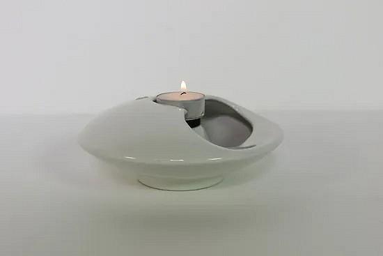 Ceramic ufo tea light holder - Sicart