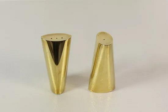 Brass salt and pepper set