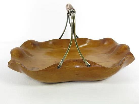 Hand carved serving dish - Aldo Tura