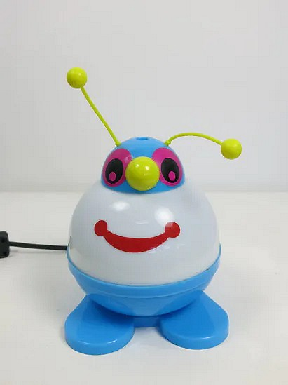 Blue robot lamp