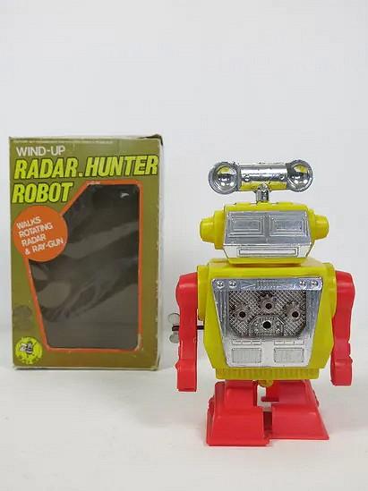 Radar hunter wind up robot - Hong Kong