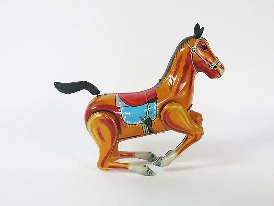 Tin Japanese wind-up horse - Daiya