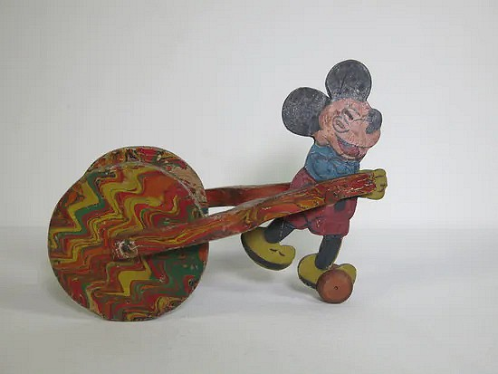 Wooden Mickey Mouse pull toy