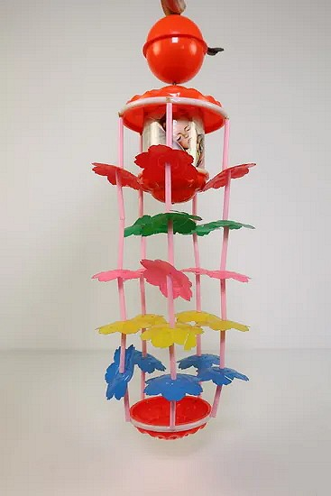 Celluloid wind-up musical toy nursery - Japan