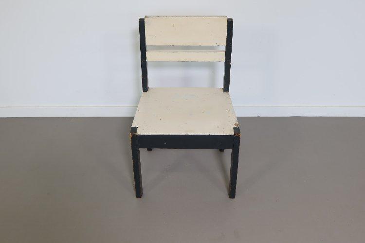 Art-deco wooden children's chair