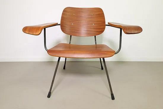 Teak Pilastro armchair model no 8000 - Tjerk Reijenga