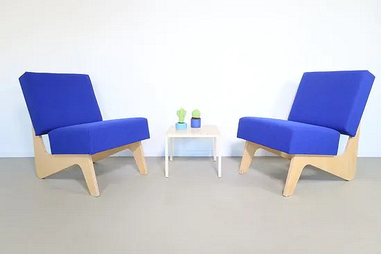 Combex FB03 easy chairs - Cees Braakman